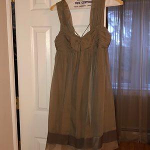 Nude/Green Dress